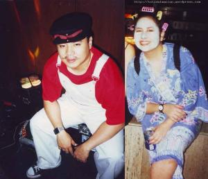 For the Halloween party around 97 at Ramon Magsaysay Center in Malate, Mario S dressed as uhm, of course, Mario of Mario Brothers and Ces G. as some housefwife in curlers.