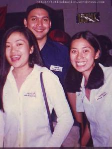 3 of the cast of Melrose Place Bgy Groove Nation. Felisa,Benjie L.and Belle currently with NU107