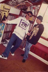 Alde and Arvin.A couple of my really really good friends. Here in fookin Manchester vibe circa 1990