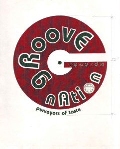 The actual test print of the Groove Nation(store)logo done by an Angeleno.