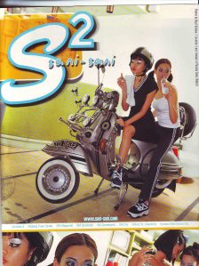 the actual mag ad featuring the Vespa