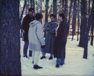 Benedictine Abbey School school mates, the Jocson brothers in the US. Young, Pinoy and in the snow
