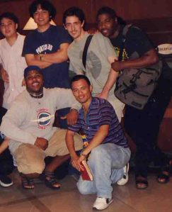 Cocoy, Myself, Jon Hardy,Chez Damier(standing), Derrick Carter and Paolo t. in 98