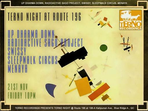 terno-night at route 196 November 21 FRiday